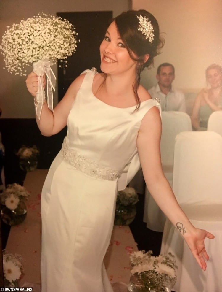 Danielle McCulloch on her wedding day in Cyprus