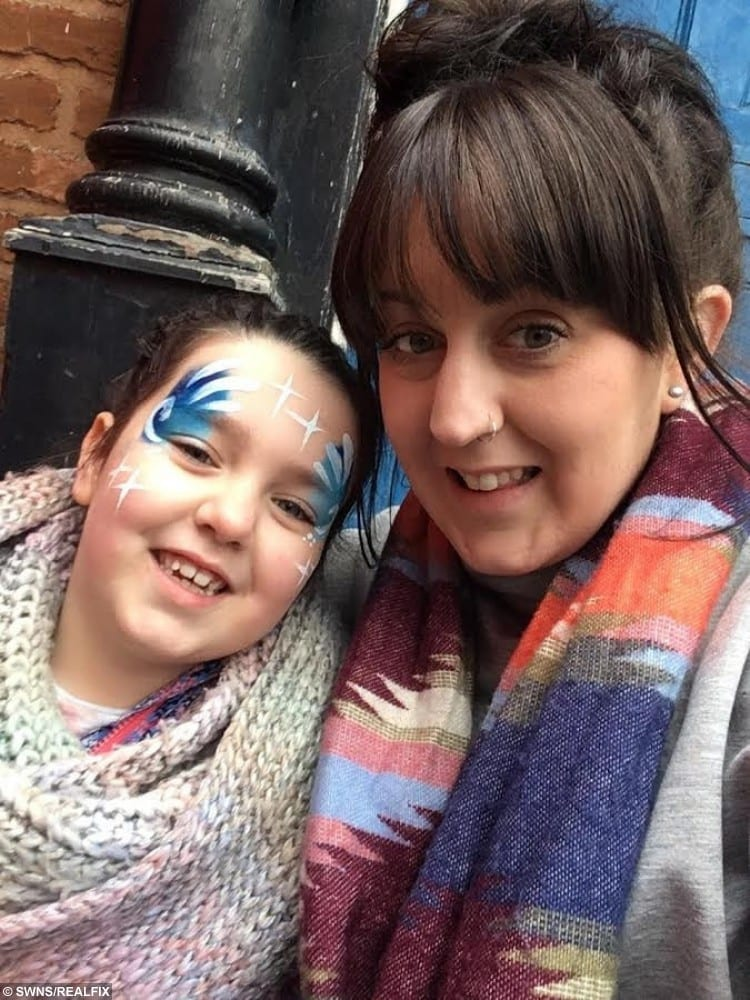 Beth Woolford, 29, with her daughter Freya