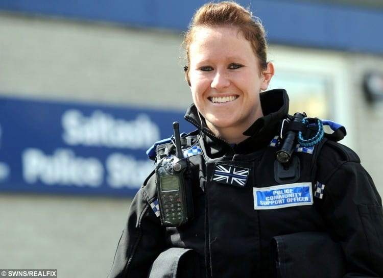 PCSO Kirsty Down in happier times.