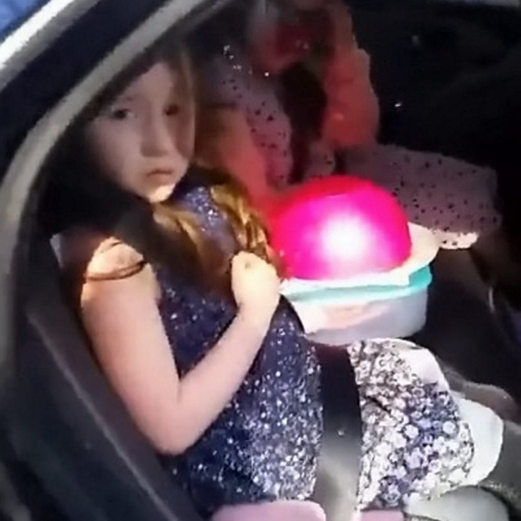 The girls wanted to surprise their gran on Mother's Day