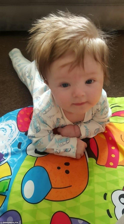 Ashley-Jay Greatorex before the meningitis stuck