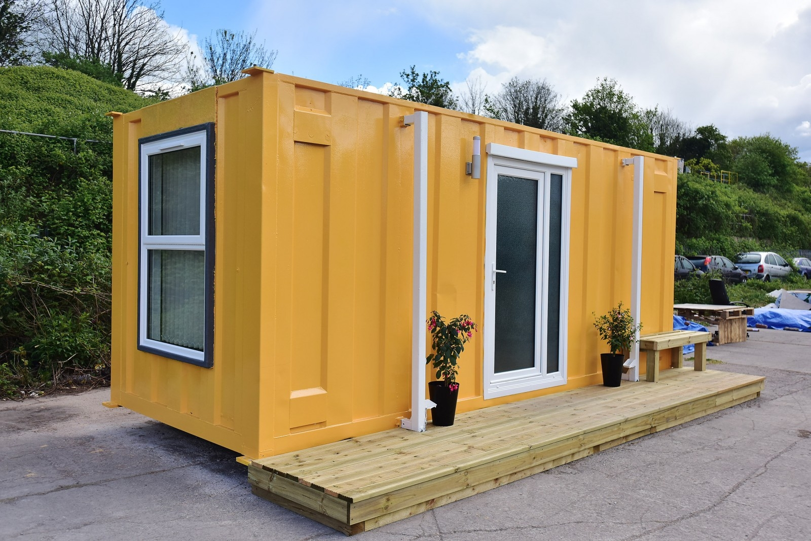 Shipping container converted to luxury home for rough sleepers real fix - Shipping containers converted into homes ...