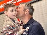 Adorable Moment Veteran Firefighter Brought To Tears At Retirement Parade By Eight Year Old Boy He Saved
