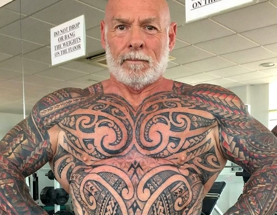 dc0b12c4e Bodybuilder Who Wanted Tattoo Cover Up Got Hooked And Ended Up With £5k Body  Suit