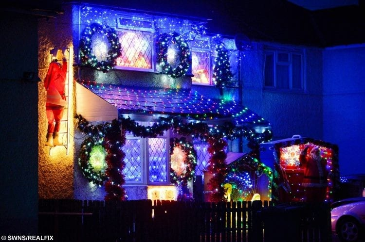 Festive mad family put up dazzling christmas display 60 days early my wife would have them up all year round if she could she loves it publicscrutiny Image collections
