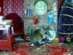 Wildlife Photographer Builds Christmas Scene From Dolls' House Furniture To Provide Food For The Wild Residents