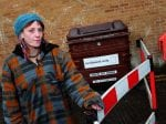 Homeless Woman Says Waste Company Stopped Her From Taking Cardboard From Bin To Sleep On