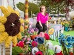 Widow Creates World's First Garden For The Royal Horticultural Society Made Completely Out Of Wool