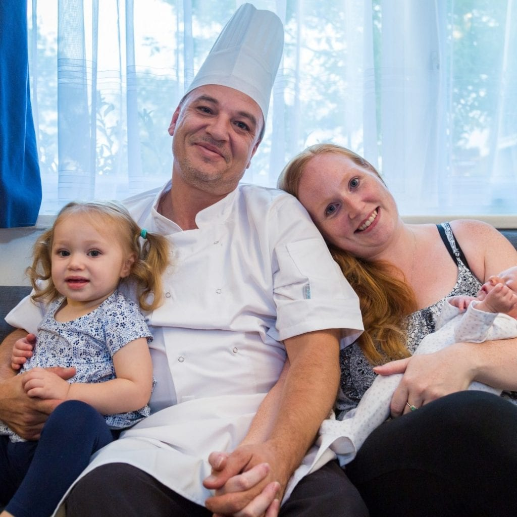 Chef Cuts Son's Umbilical Cord With Apron Strings After Wife Goes Into Early Labour At Home