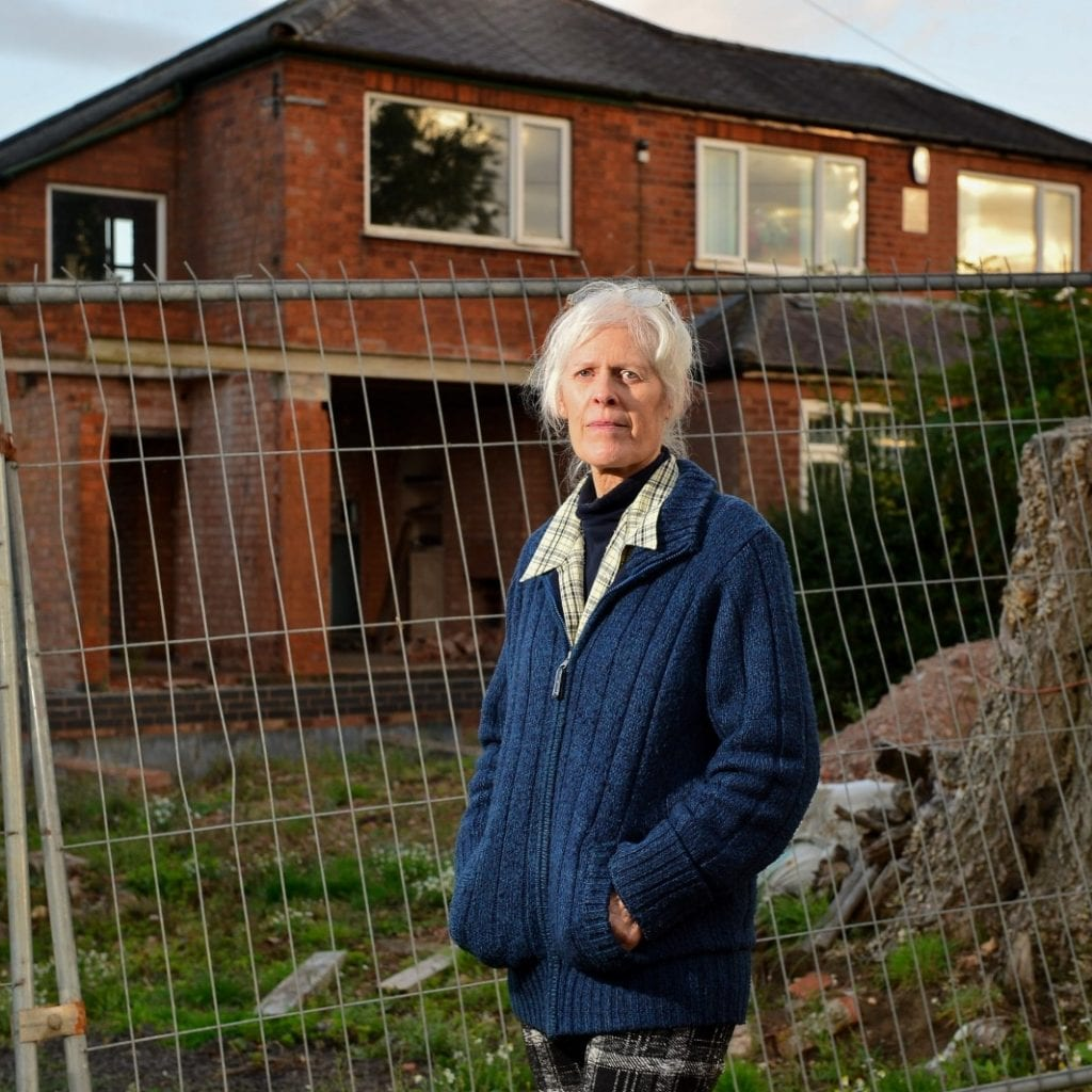 Widow Fuming After Neighbour Knocks Out All The Walls And Windows Of Semi-Detached Countryside Cottage Leaving Behind Derelict 'Bomb-Site'