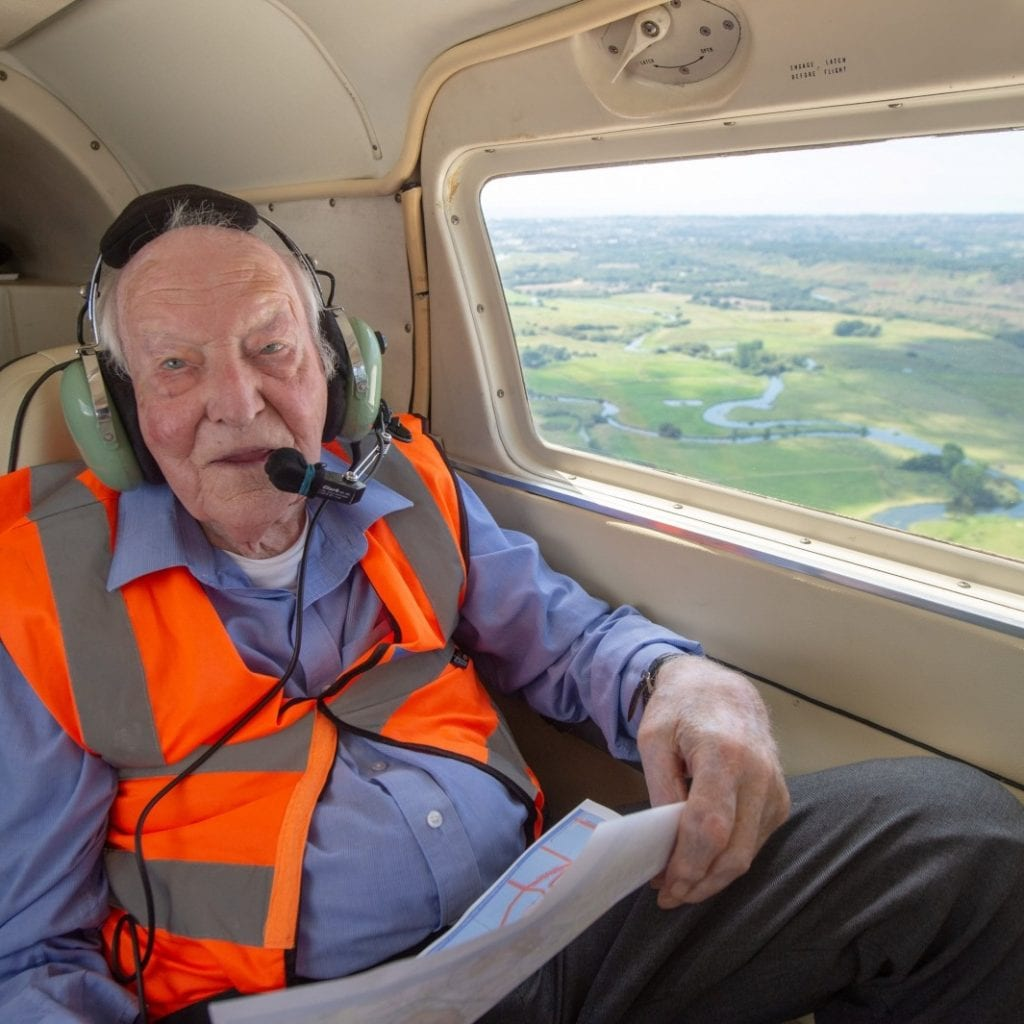 96-Year-Old RAF Hero Has Taken To The Skies Again Nearly 75 Years After Last Piloting An Aircraft