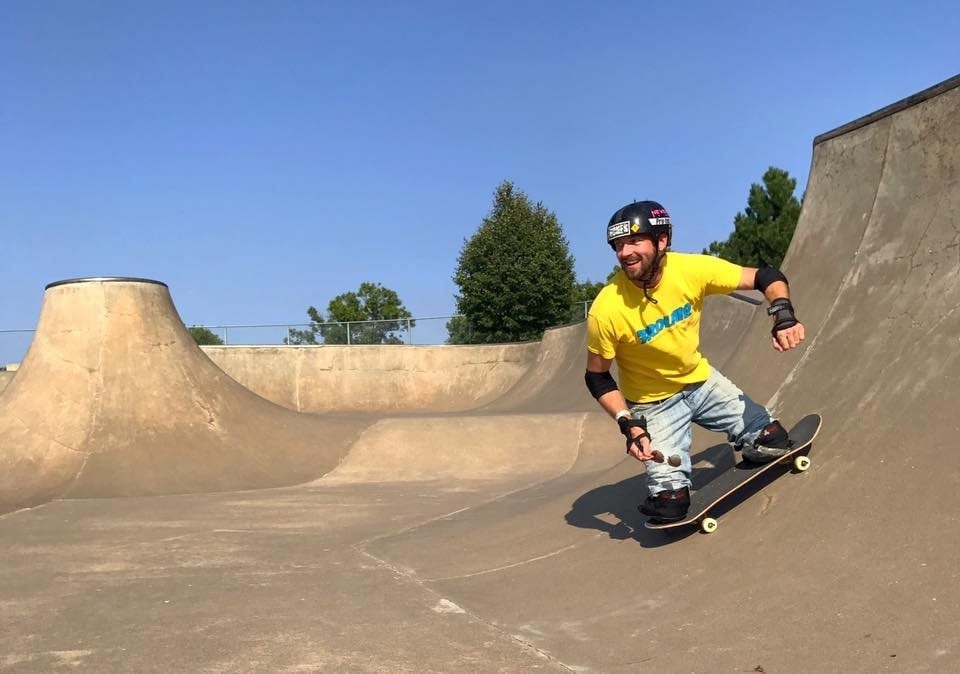 Skateboarder Hurtles Downhill At Breakneck Speed Despite Having Lost Both Legs After Being Hit By A Train