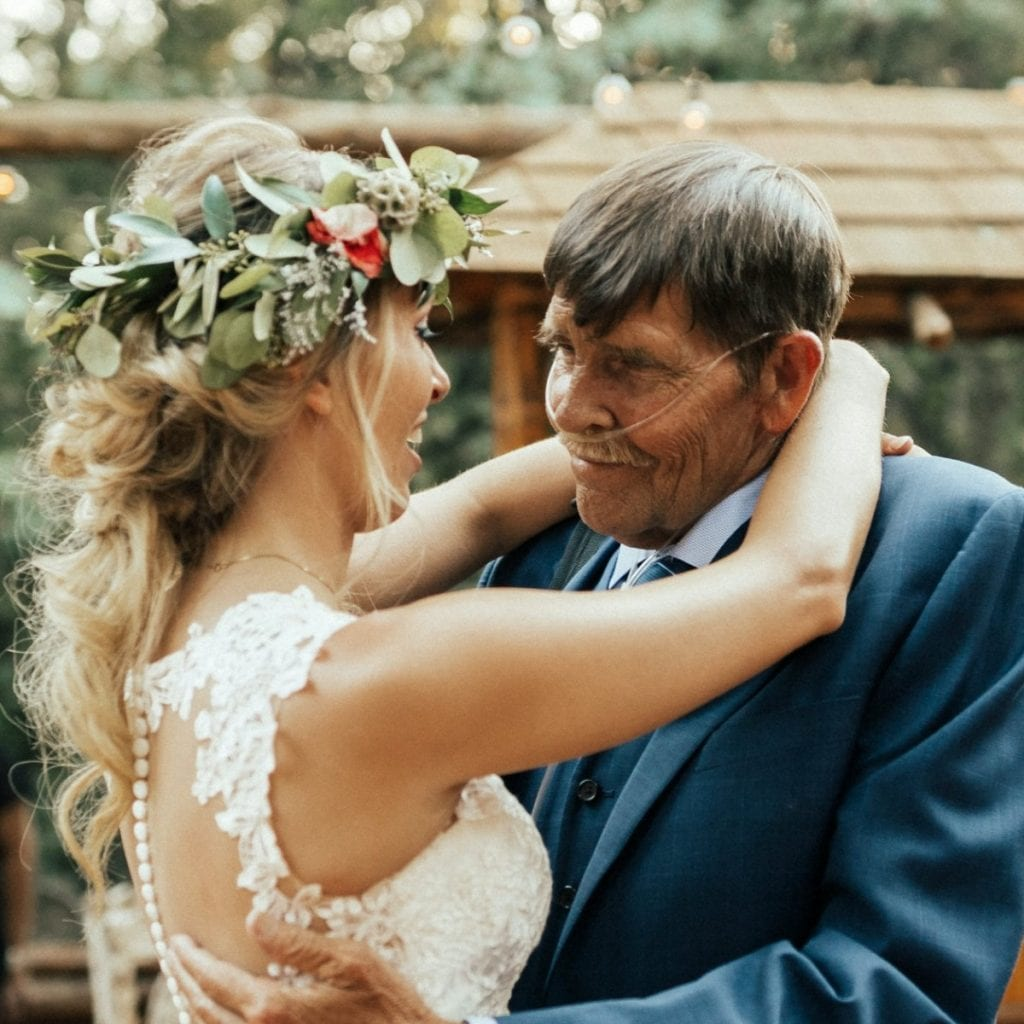 Bride Dances With Sick Father At Her Wedding After Fears He Wouldn't Be Well Enough To Walk Her Down The Aisle