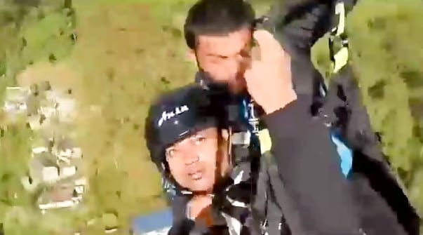 Hero Pilot Saves Man After Their Paraglider SNAPS Mid Air