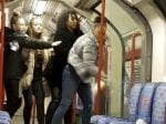 Shocking Moment Woman SMASHES Bottle On London Tube – Showering Passengers In Shards Of Glass
