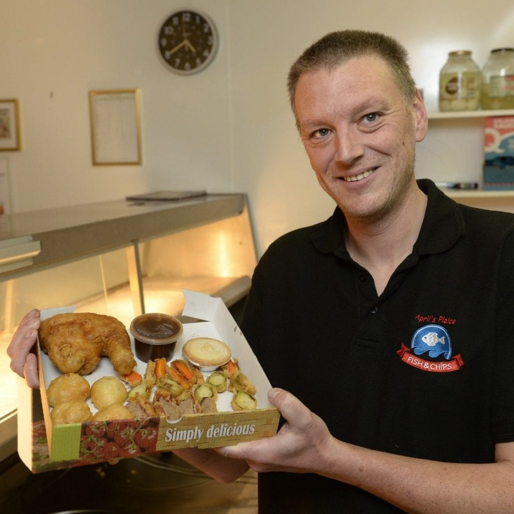 Takeaway Creates Deep-Fried Christmas Dinner - Featuring Fried Turkey, Sprouts, Pigs In Blankets And Roast Potatoes