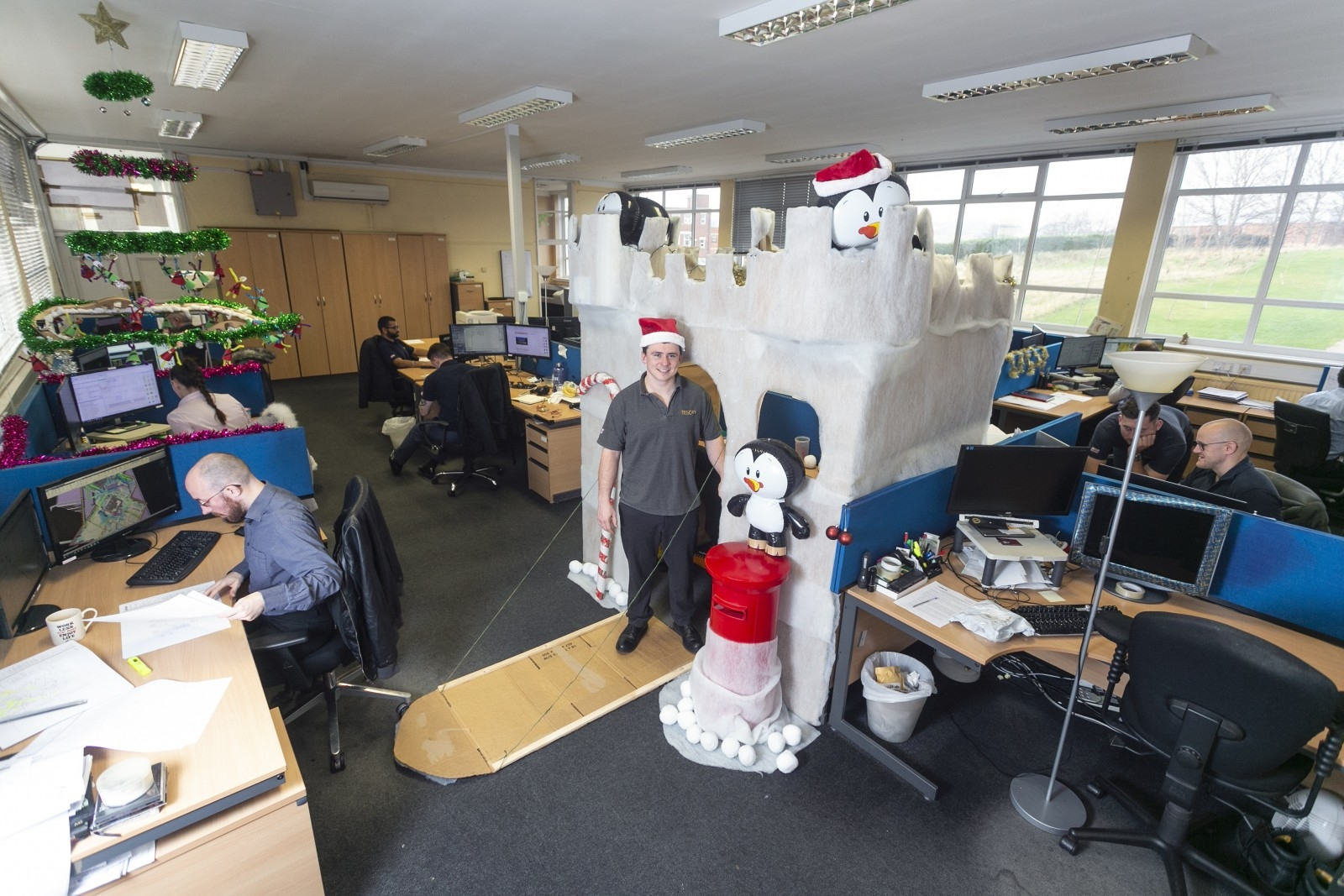 Is This The Craziest Christmas Office Desk You've Ever Seen?
