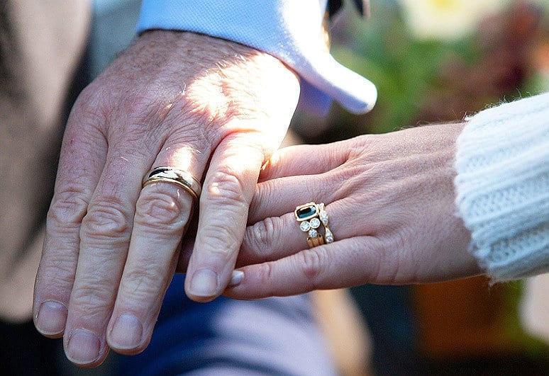 Couple Create Wedding Rings Made Out Of Meteorite Which Crashed To Earth Near Their Home