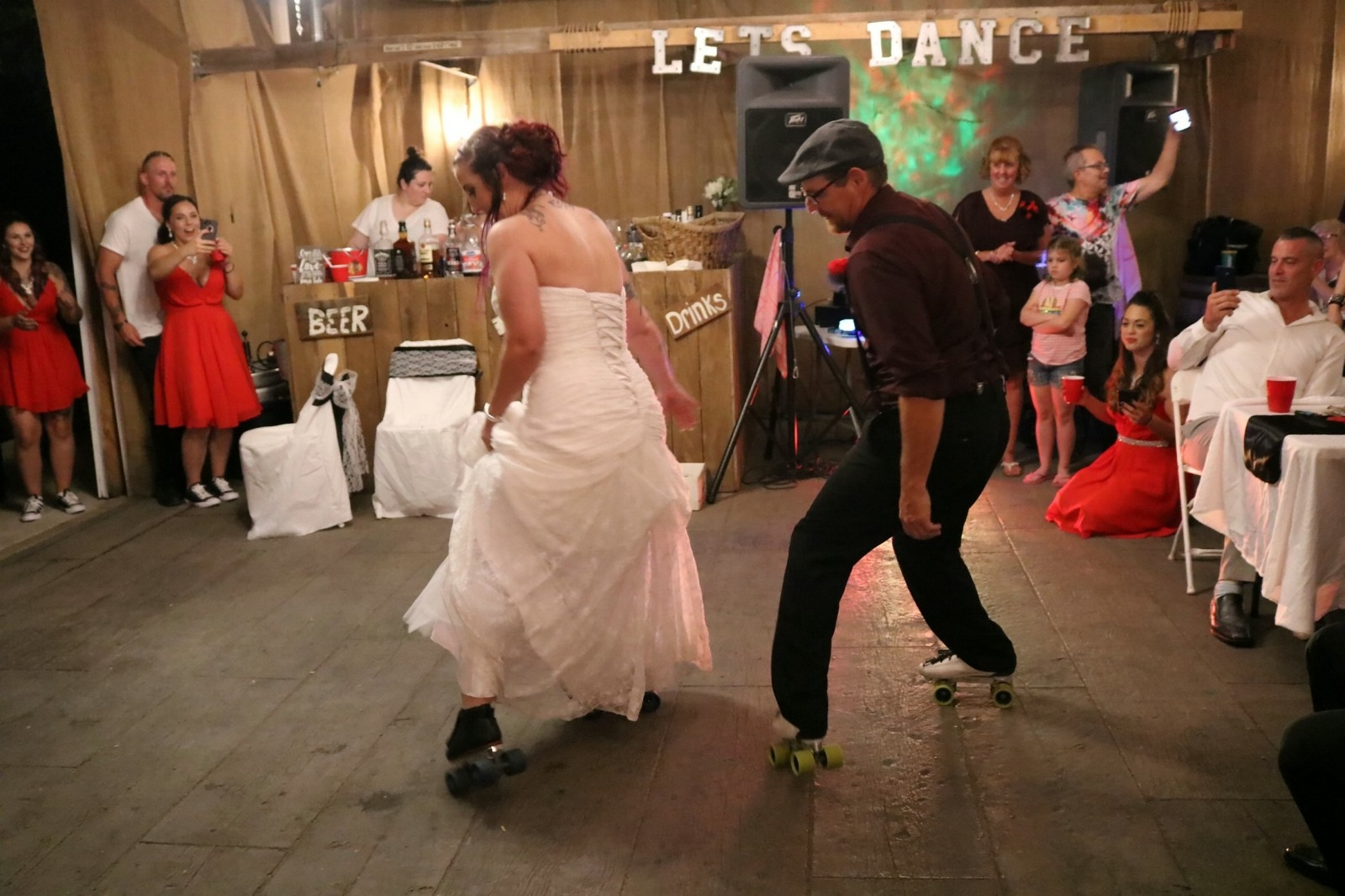 Bride Wowed Her Wedding Guests With A Dad-And-Daughter Dance - On ROLLER SKATES