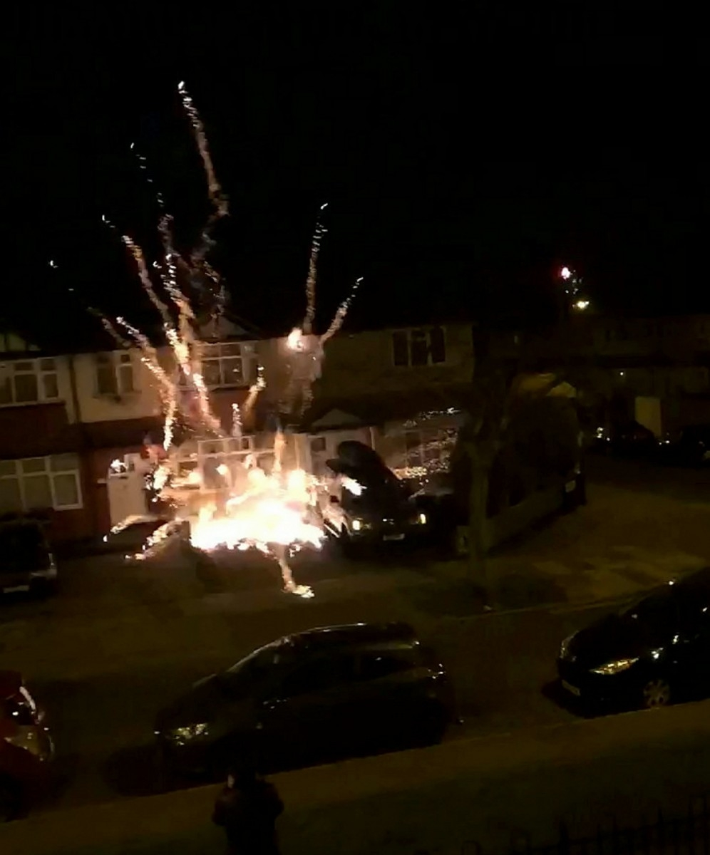 Huge New Years Eve Firework Smashes Into House And Explode