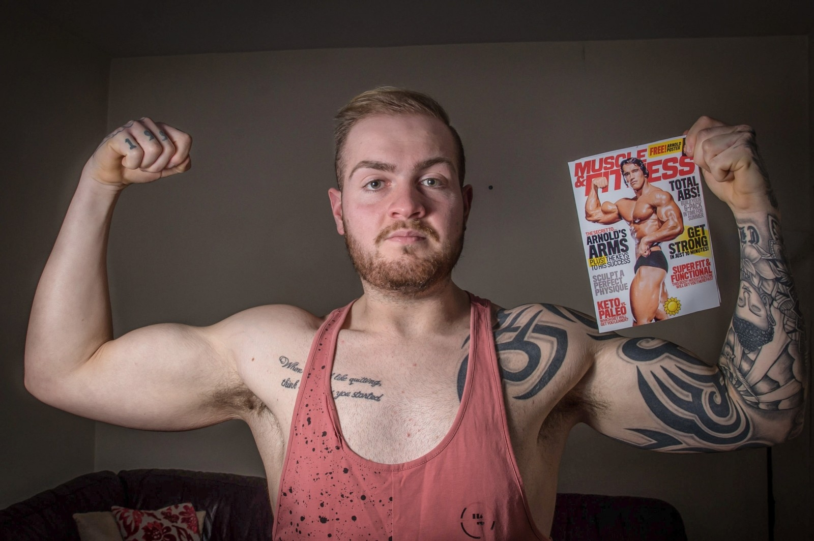 Man Who Tipped The Scales At 20st Transforms Into Bodybuilder After Being Inspired By Arnold Schwarzenegger Movies