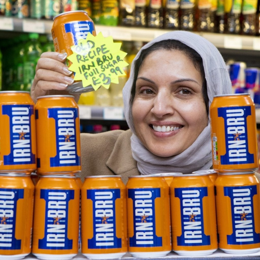 Shopkeeper Sells Original Full-Sugar Cans Of Irn Bru For £3.99
