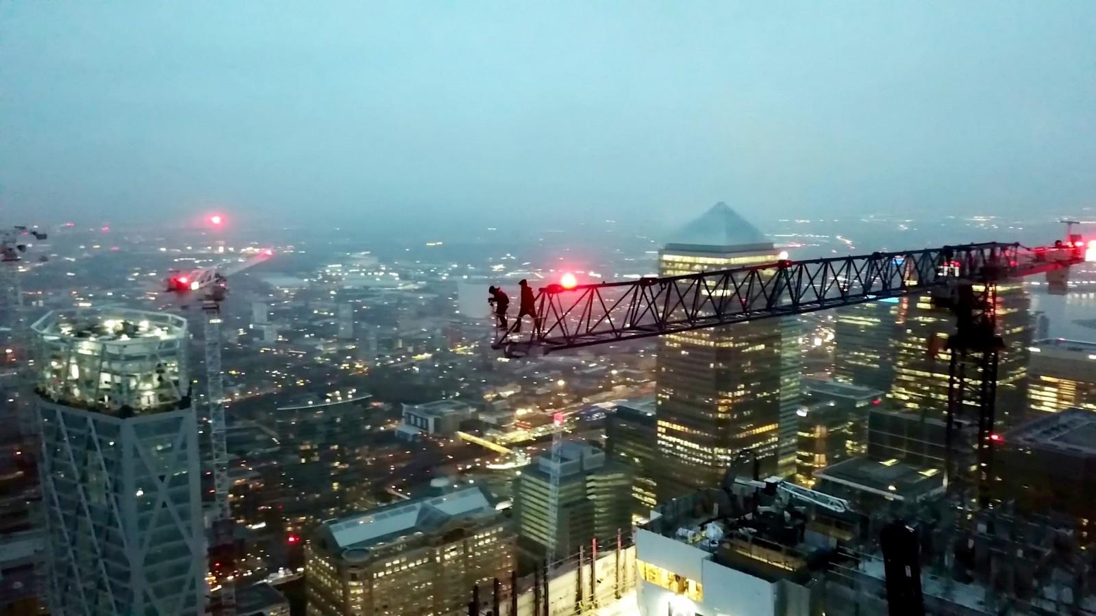 Two Adrenaline Junkies Cheat Death Climbing 784ft London Skyscraper