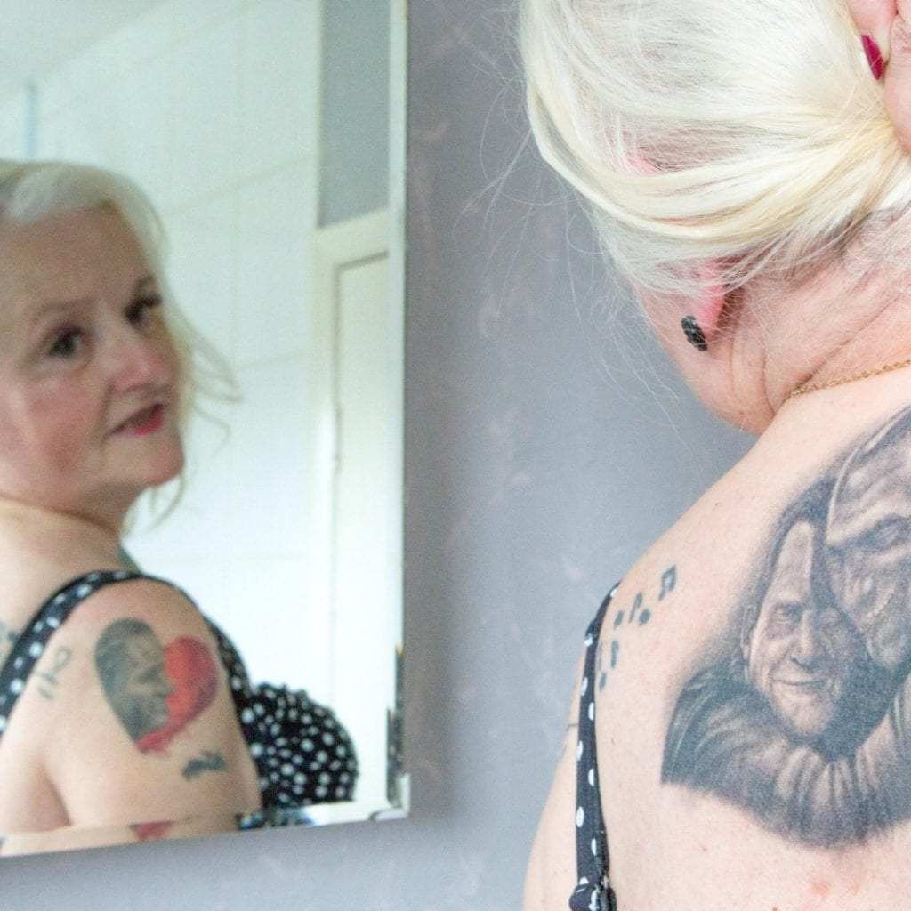 Gran Inked From Head To Toe With Mourinho Tattoos Adds Huge Jeremy Kyle Inking To Her Back