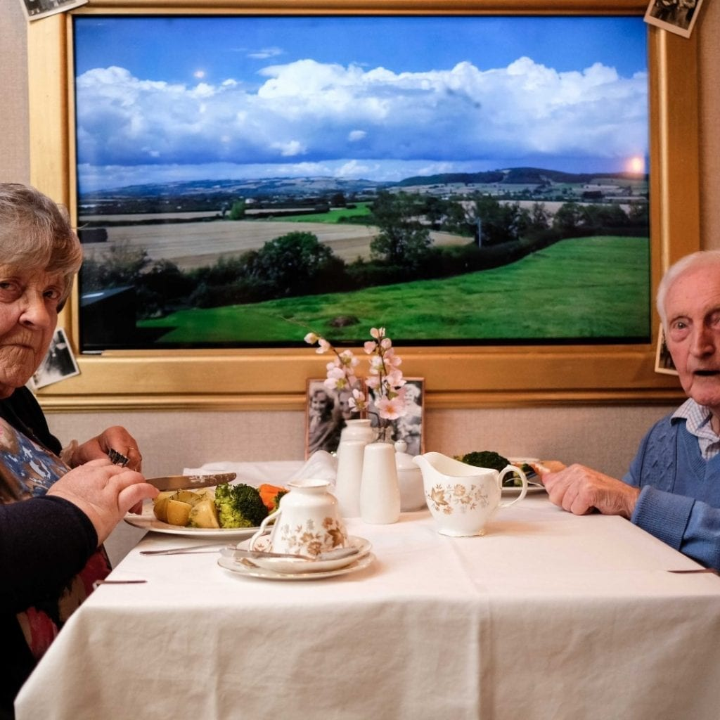 Besotted Couple Celebrate 60th Wedding Anniversary At Care Home On A Virtual Train