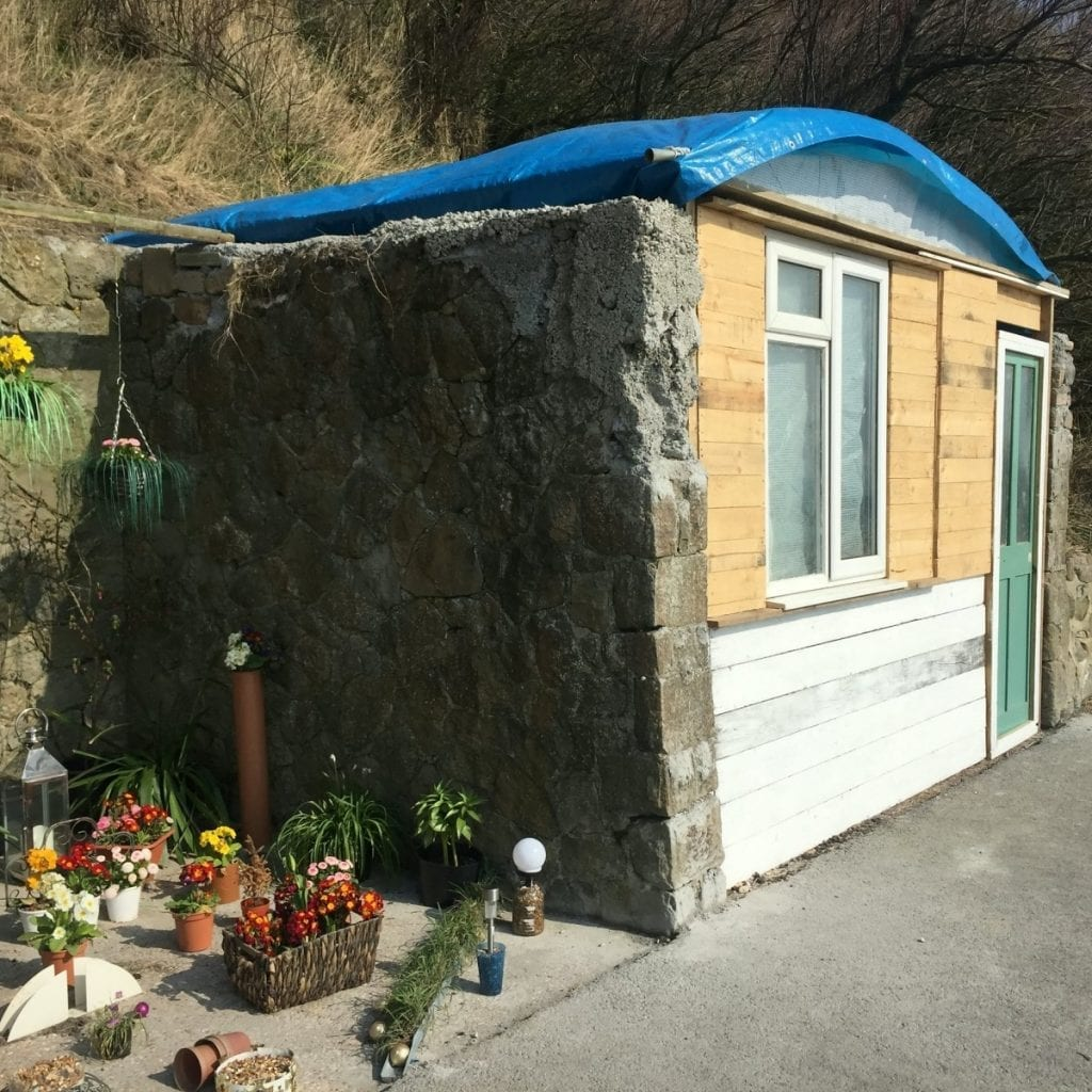 Homeless Man Is Being Evicted From A Makeshift House He Built Into A Wall On The Beach - Because He Didn't Get Planning Permission