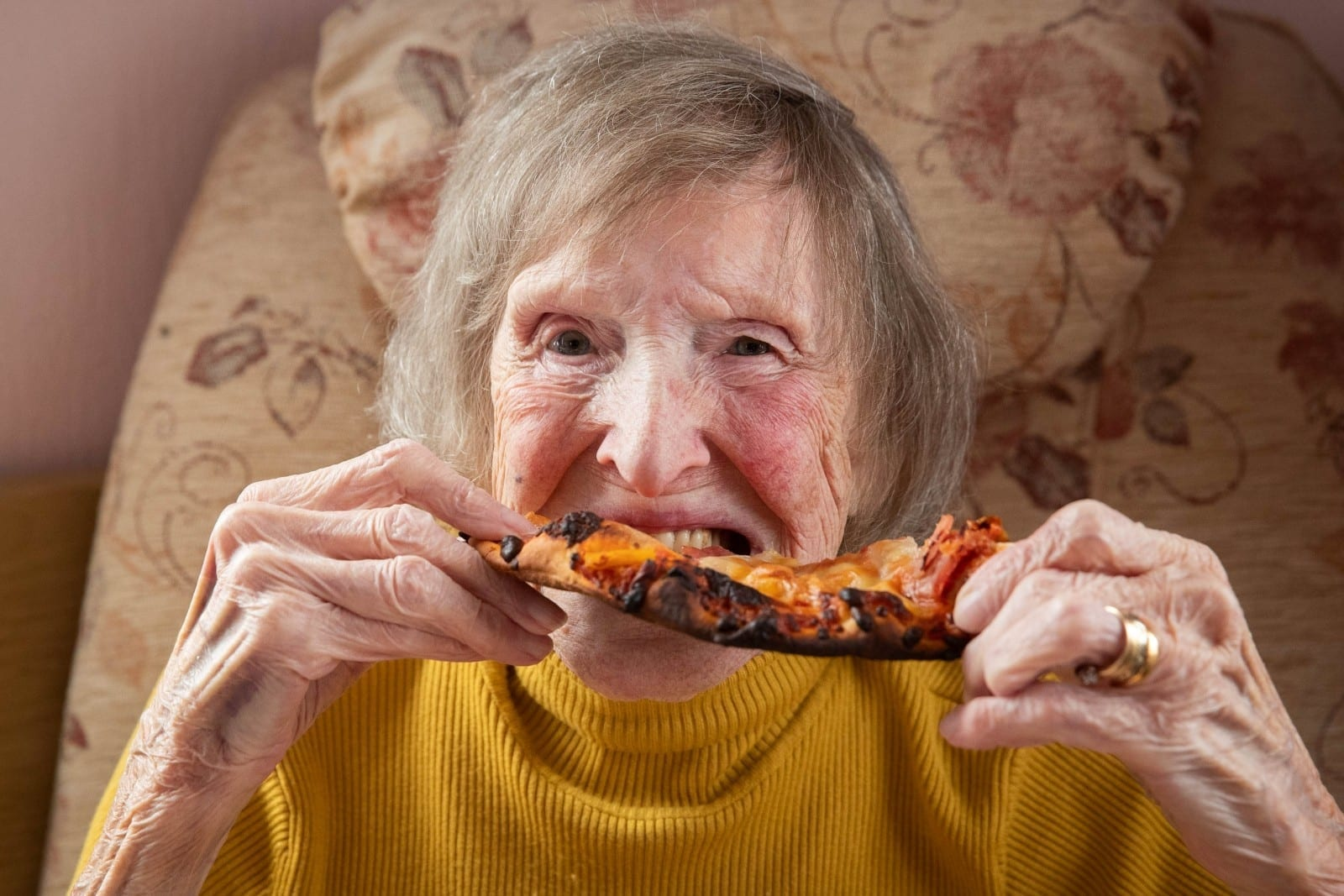 Great-Gran Finally Tucks Into A Pizza After Vowing Never To Touch Italian Food After Husband Was Held Captive By Mussolini Forces