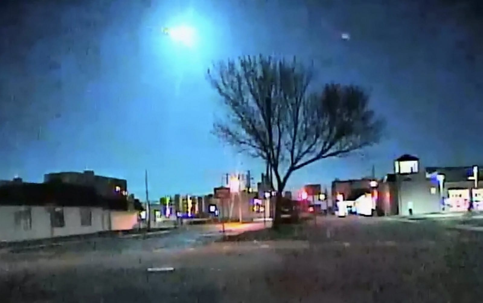 Watch Jaw-Dropping Moment Huge Meteor Lights Up The Night Sky As It Crashes Towards Earth