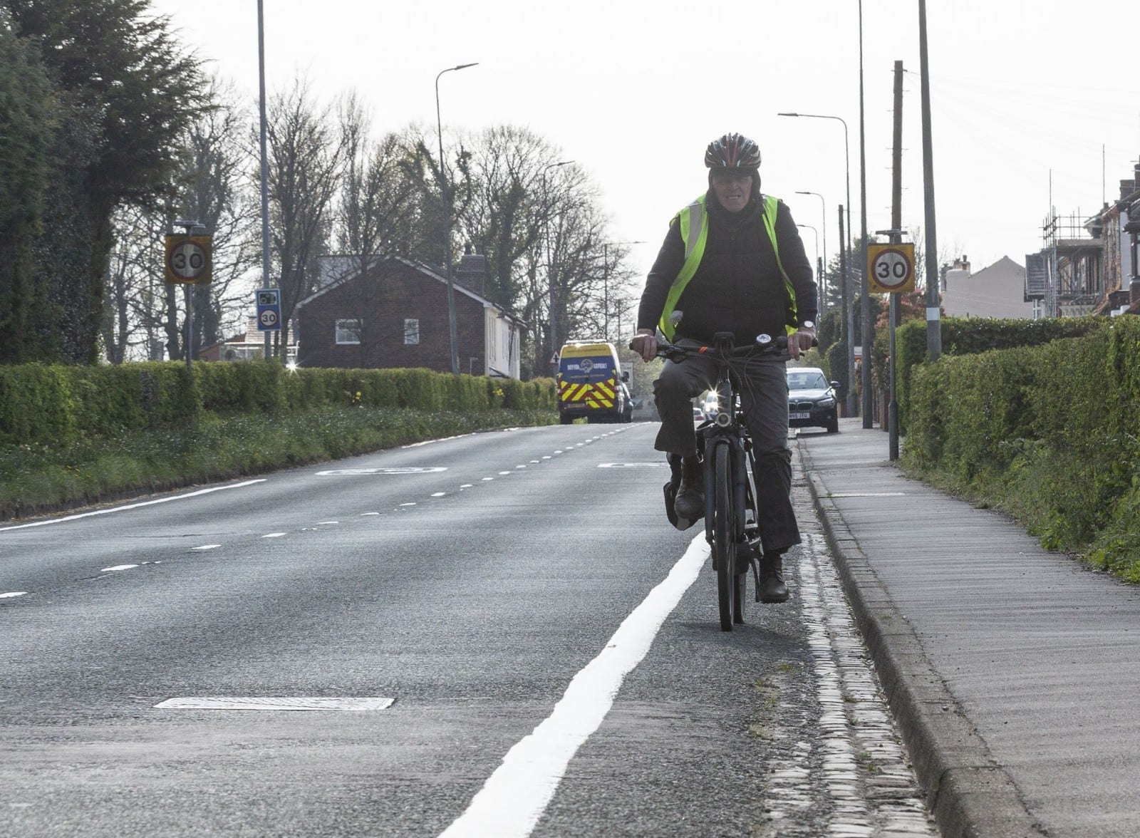 Puzzled Cyclists Bewildered After Council Installs Bike Lane Not Even Wide Enough To Fit A Bicycle