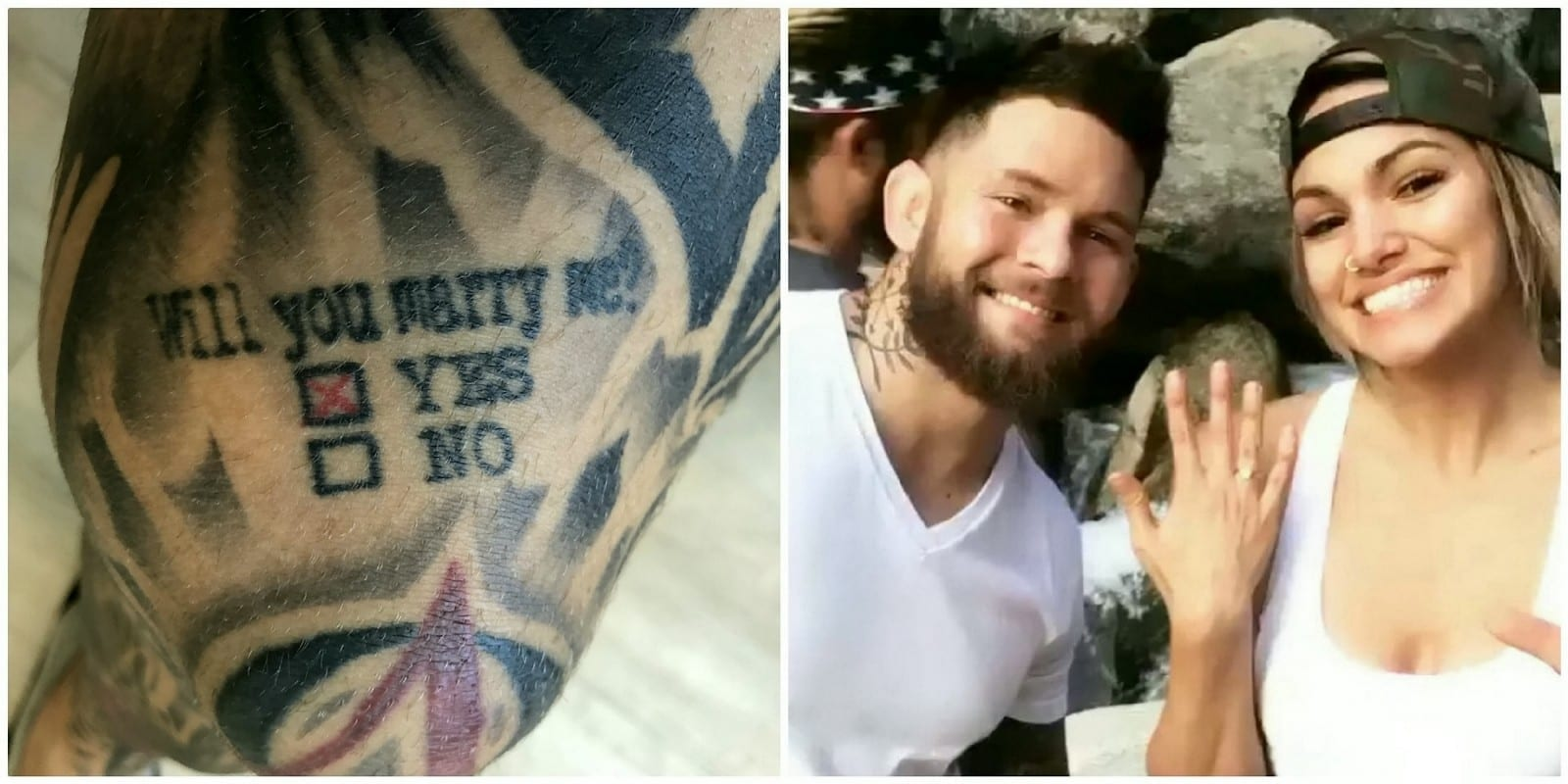 "Romantic MMA Fighter Proposed To His Love With A TATTOO Asking ""Will You Marry Me?"" With Two Boxes Marked 'Yes' And 'No'"