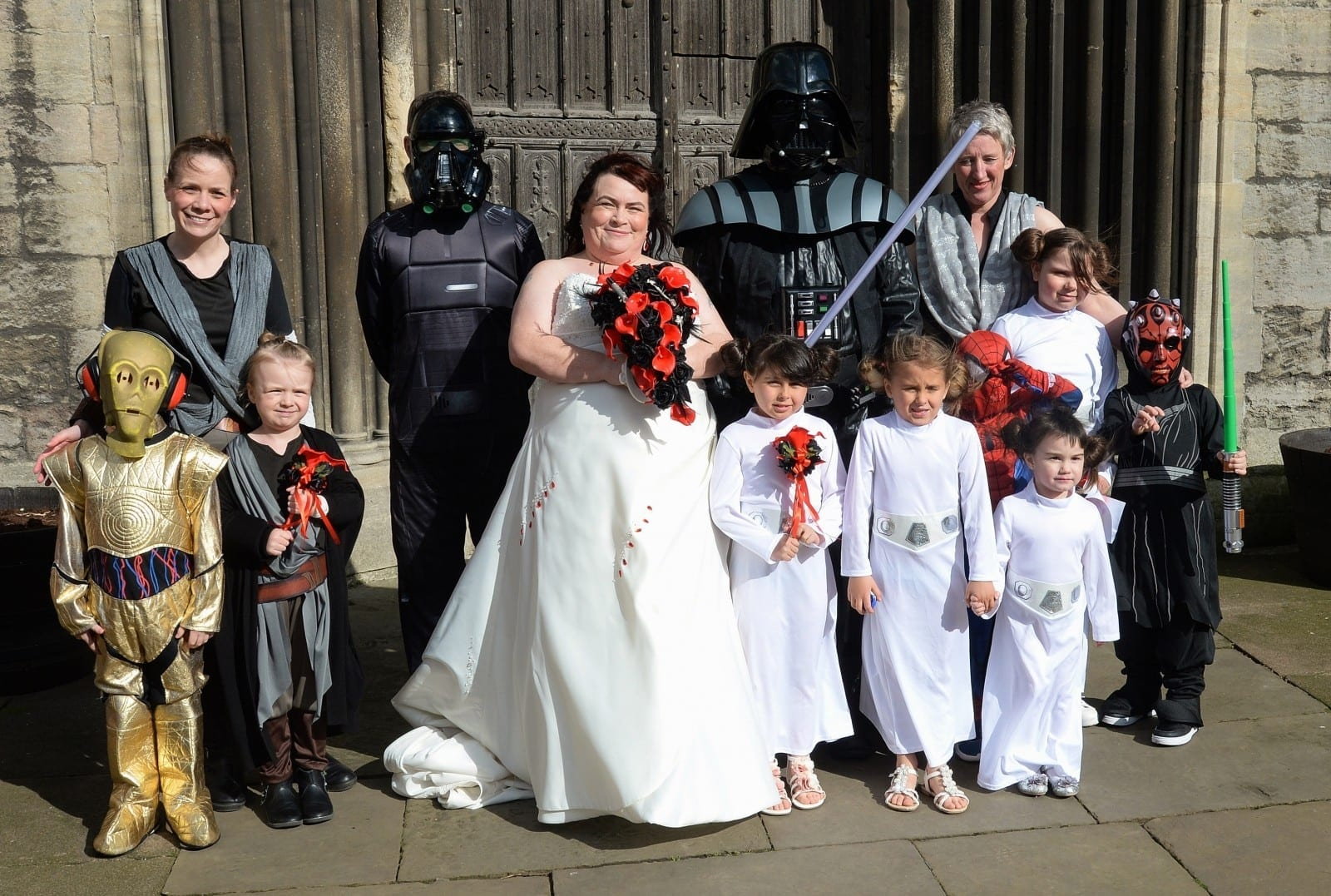 YOU'RE THE OBI-ONE FOR ME – Sci-fi mad couple tie the knot with wacky Star Wars themed wedding