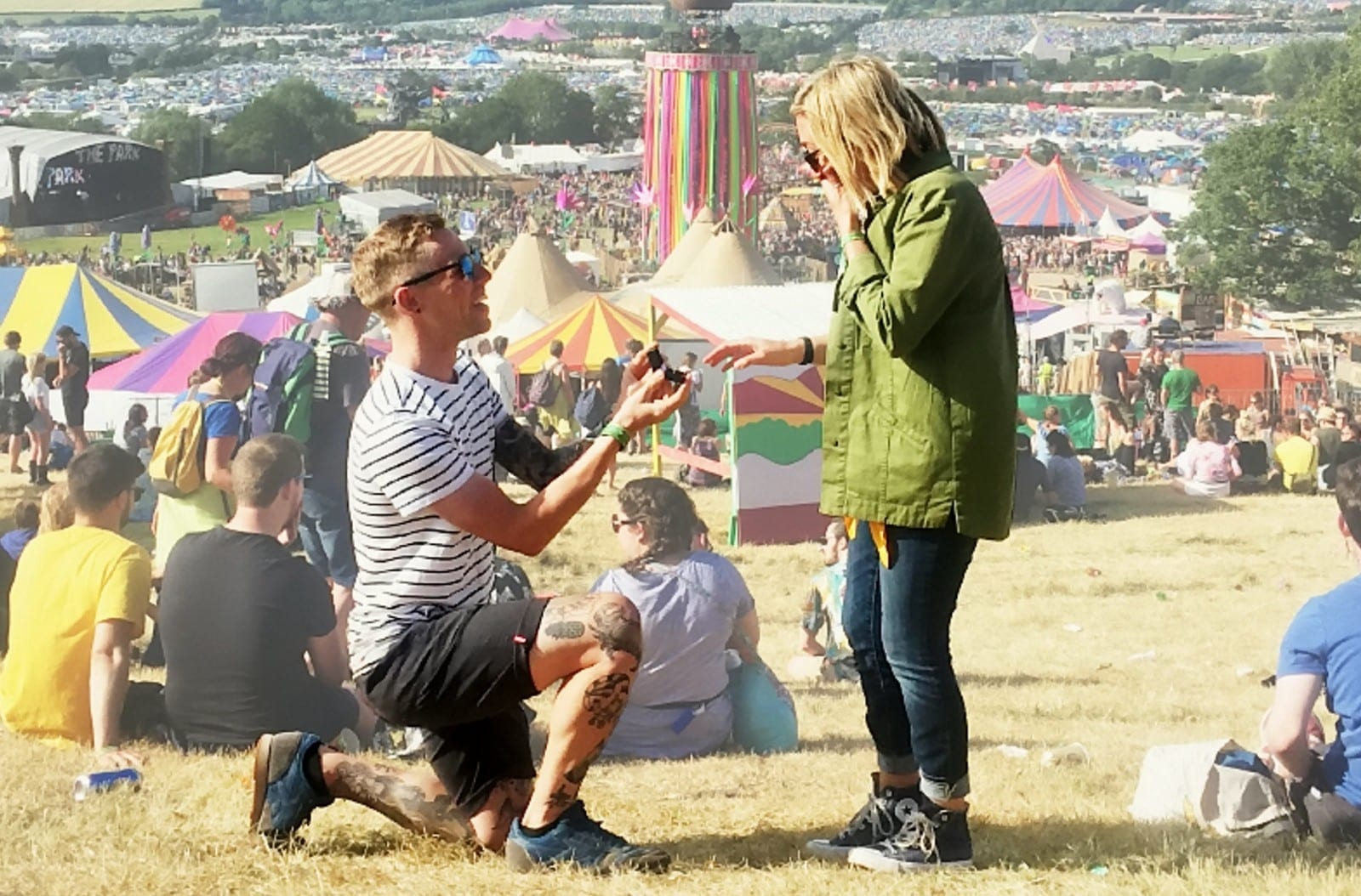 Couple Get Glastonbury Tickets For 50 Friends As They Tie The Knot At The Festival – Two Years After Getting Engaged There