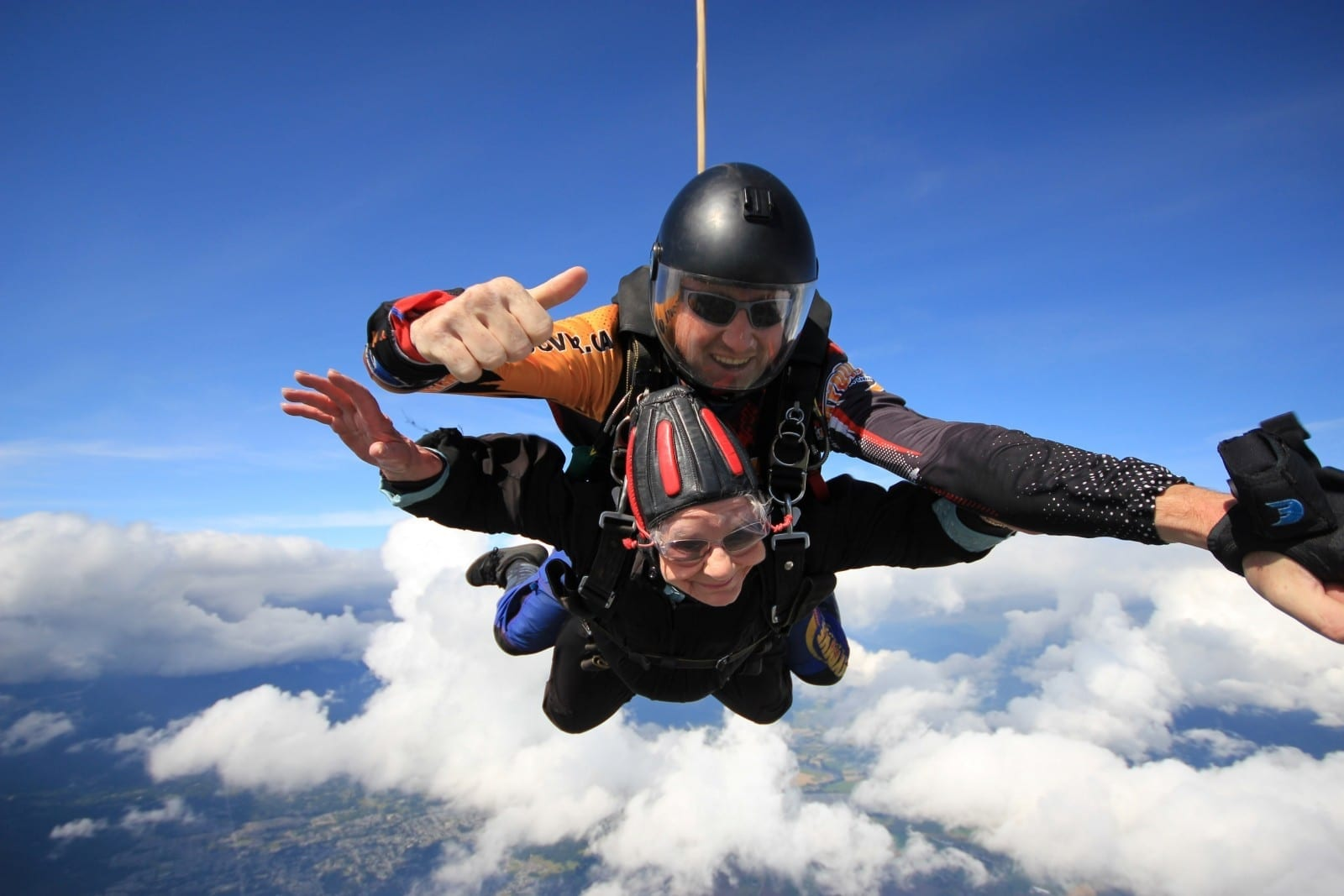 Brave Senior Celebrates 90th Birthday With Daring SKYDIVE