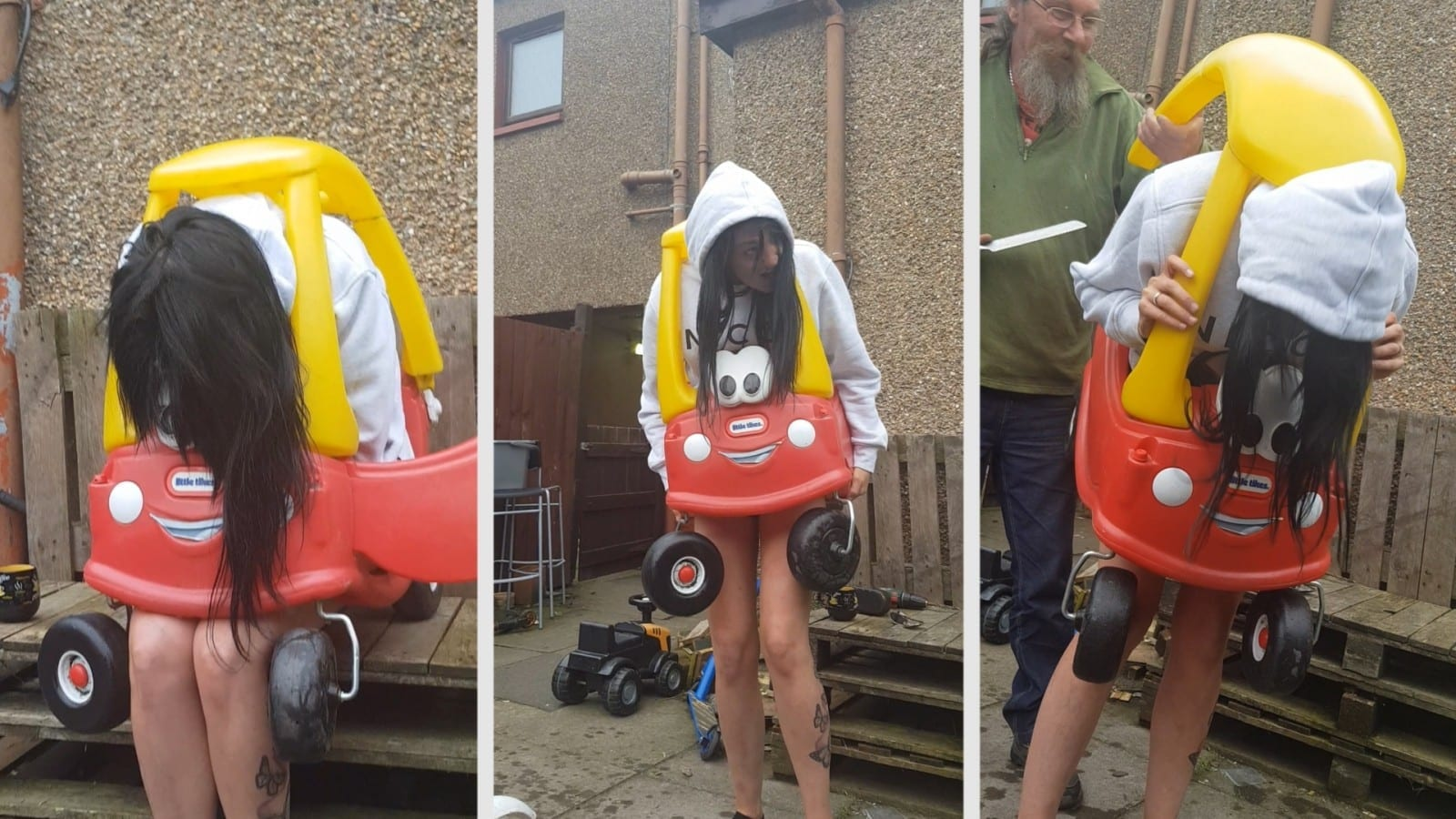 Woman Got Stuck In A Children's Toy Car – And Had To Be Cut Out Using A Bread Knife
