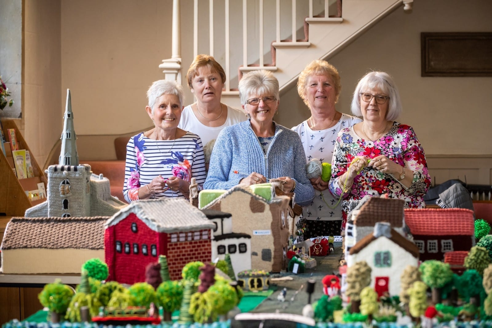 Inspired Grandmas Knit A Tiny Version Of Their Town, Complete With Woolly Postboxes