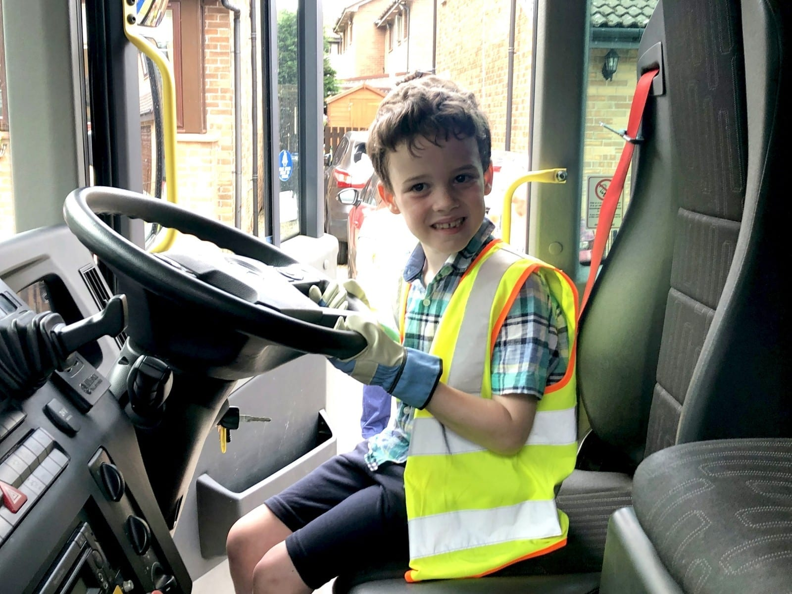 A Schoolboy Obsessed With Bin Lorries Was Delighted When One Turned Up To Take Him Out For A Spin On His Birthday