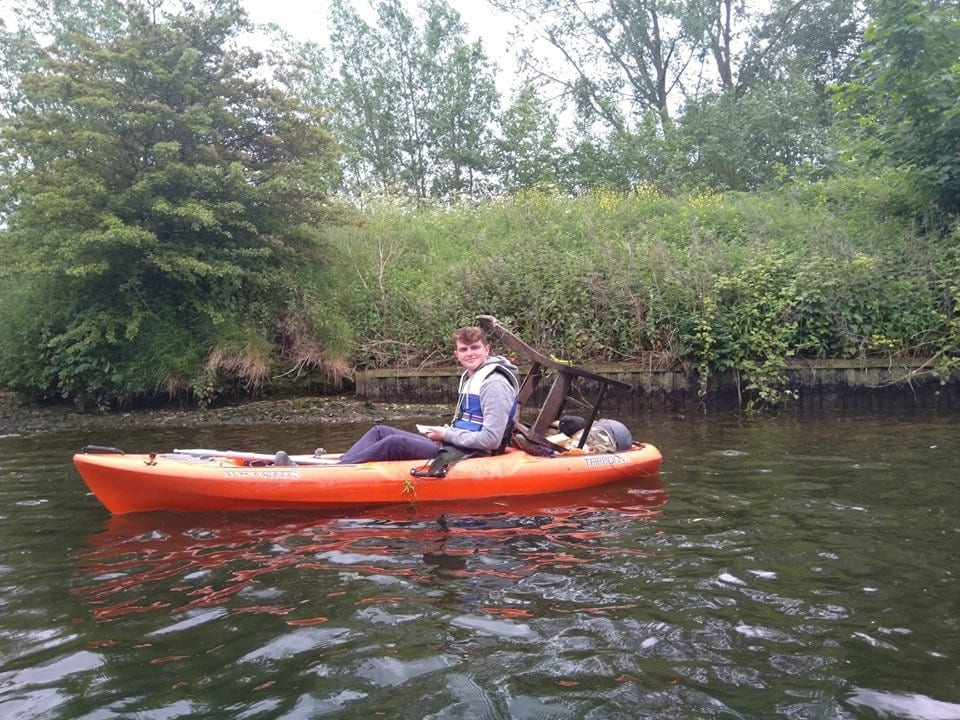 Eco-Loving Teen Kayaker Has Clocked Up More Than 100 MILES Clearing Rubbish Including A TOILET From Rivers And Waterways