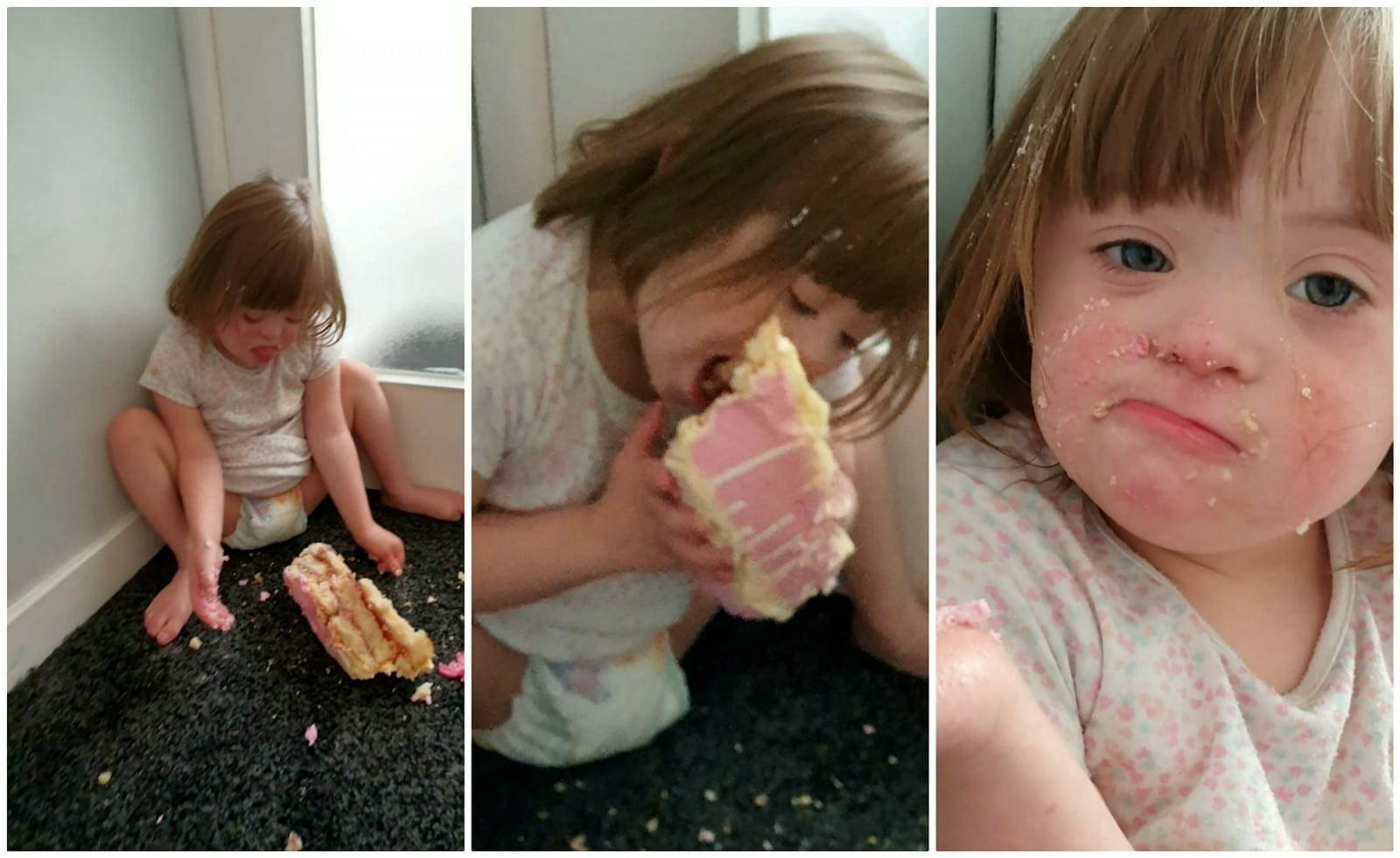 Mum Found Five-Year-Old Daughter Stuffing Her Face With Birthday Cake She'd Stolen From The Living Room
