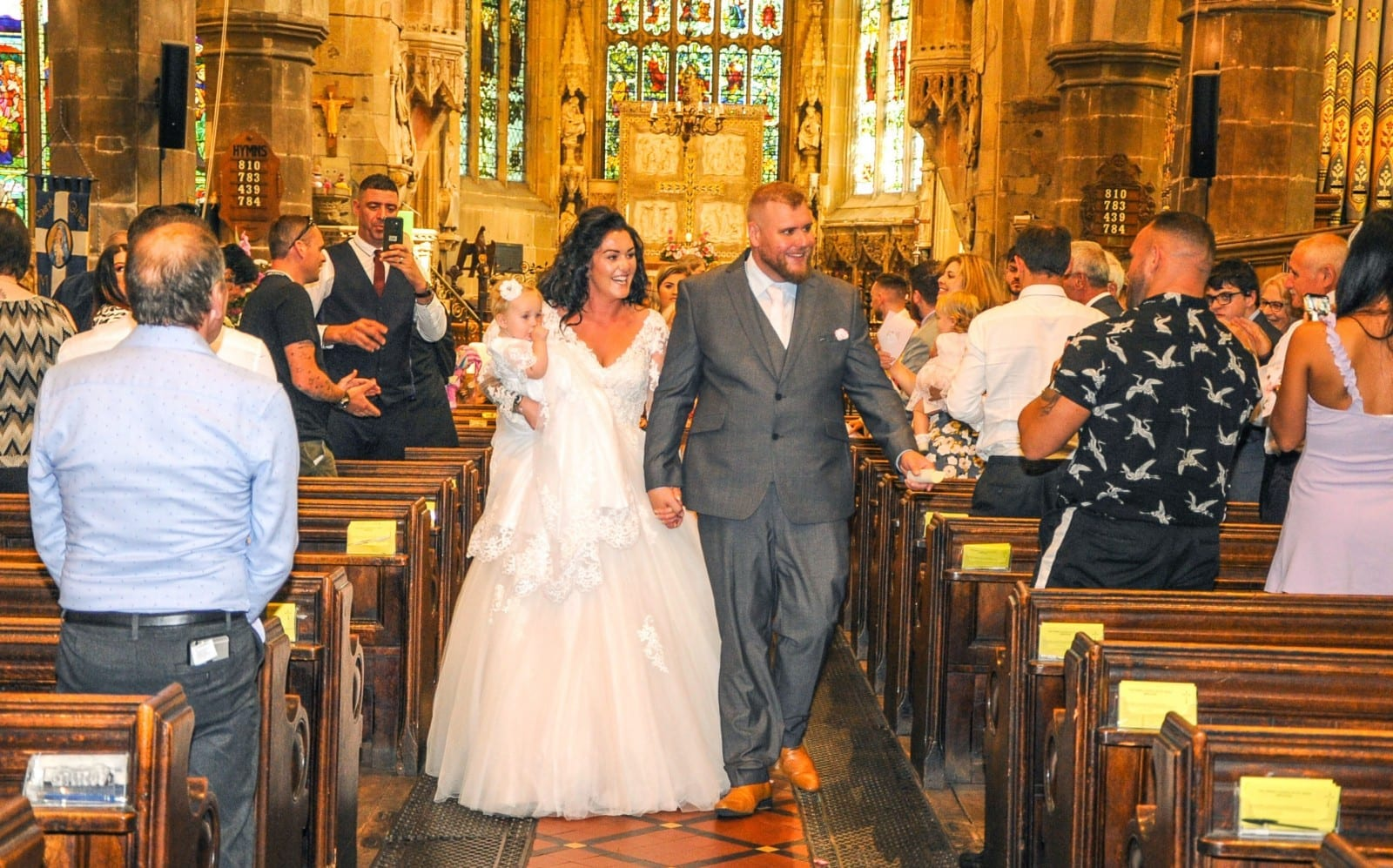 Couple Leave Family Stunned By Turning Their Daughter's Christening Into Surprise WEDDING