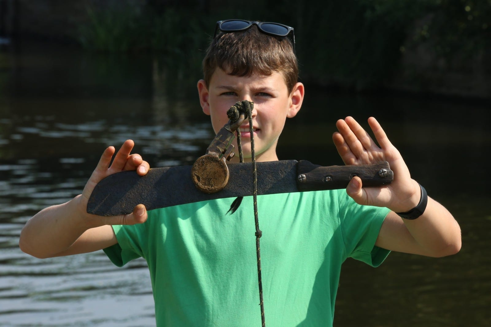 Schoolboy Reels In Huge Arsenal Of Weapons After Taking Up Magnet Fishing As A Hobby To Keep Him Out Of Trouble