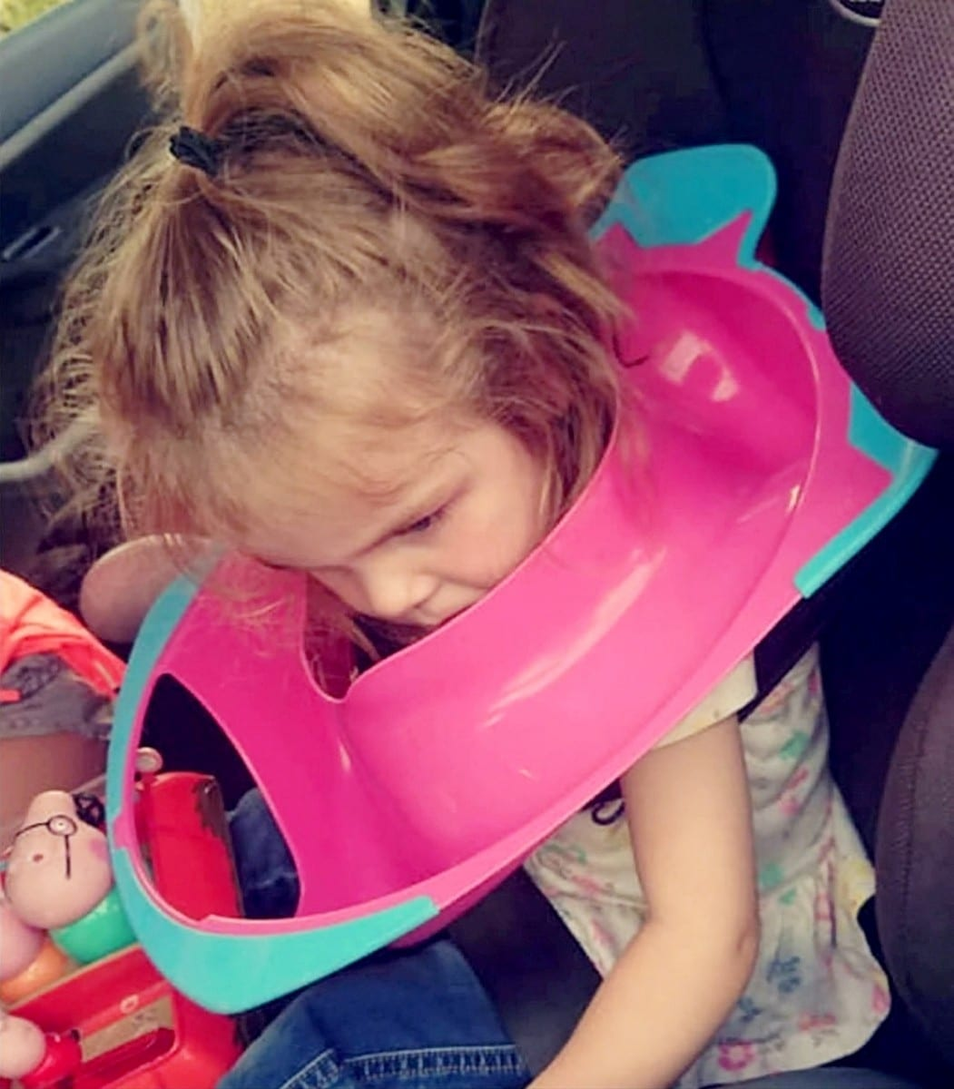 Dad Stunned When He Hears His Little Girl Shout While Going To The Toilet – Only To Discover She'd Got The POTTY Stuck On Her Head