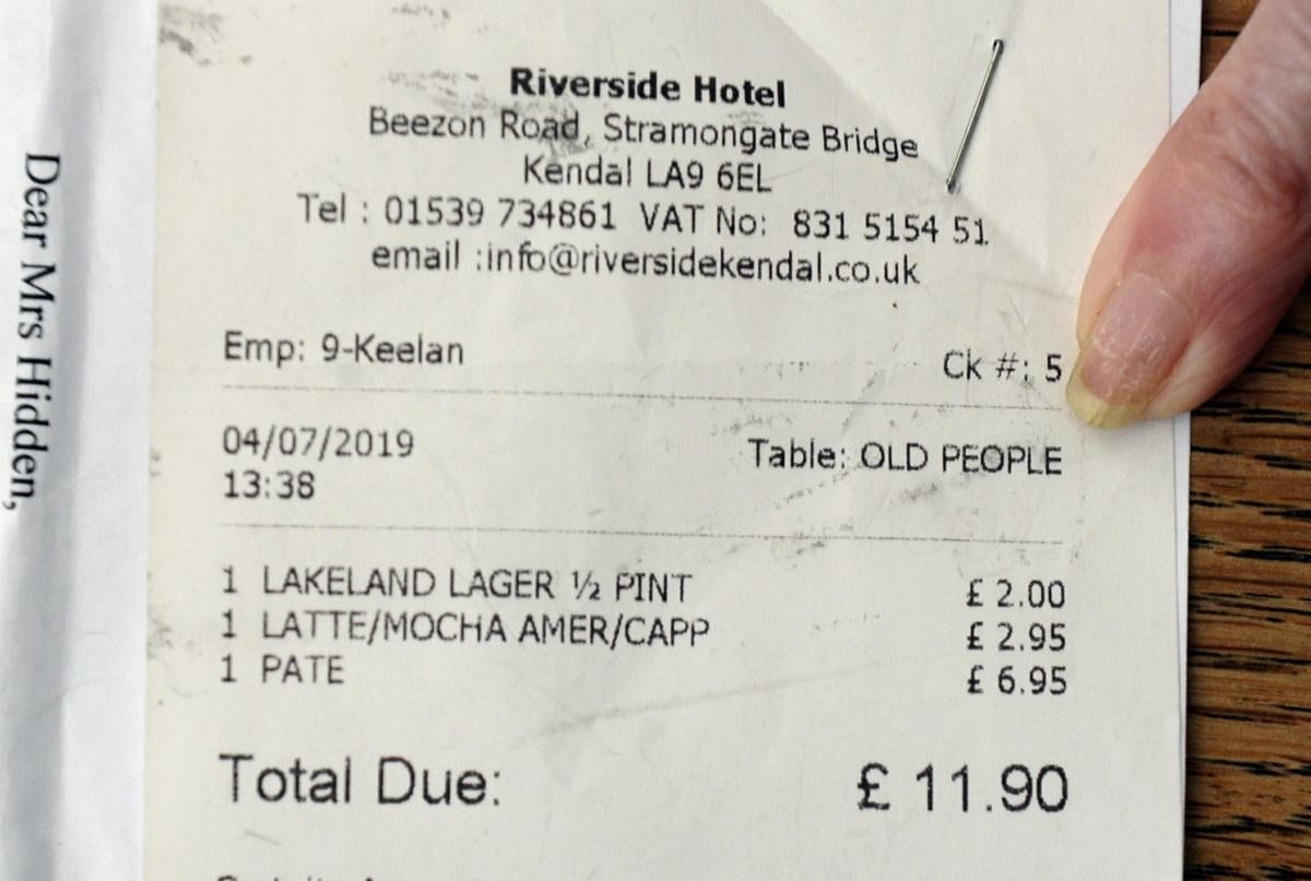 "Couple Have Spoken Of Their ""Disgust"" After A Waiter Described Them As 'Old People' On Their Drinks Bill"