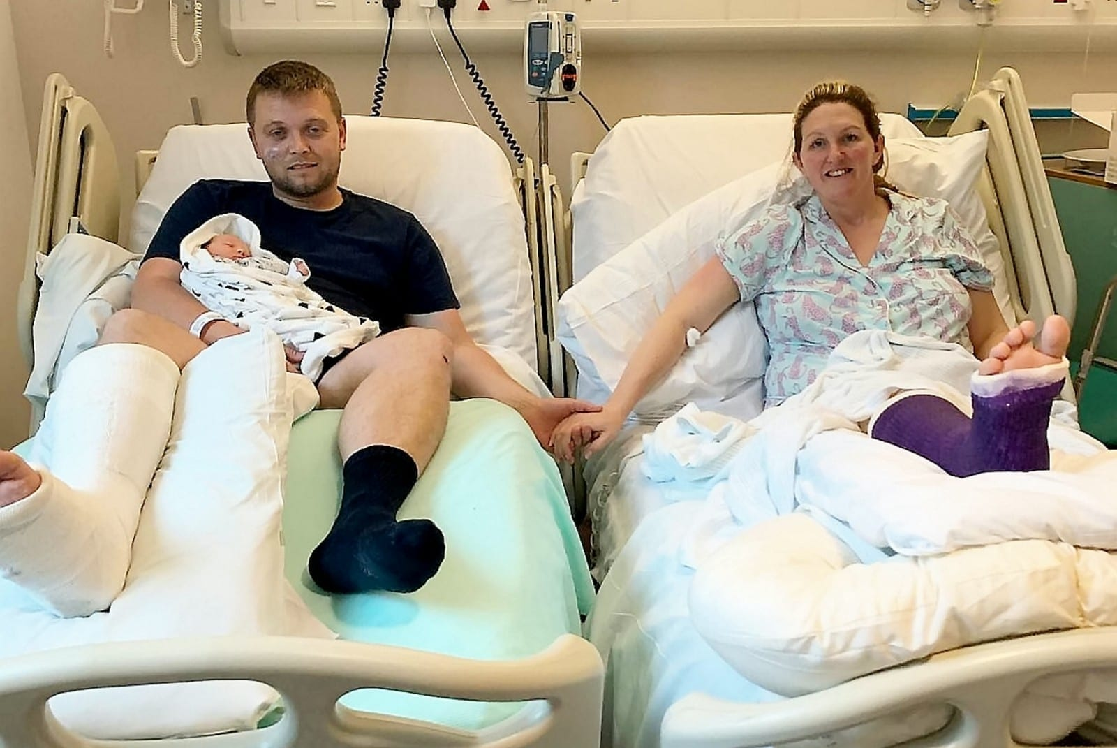 Baby Born By C-Section After Both Parents Are Involved In Car Crash On The Way To Hospital