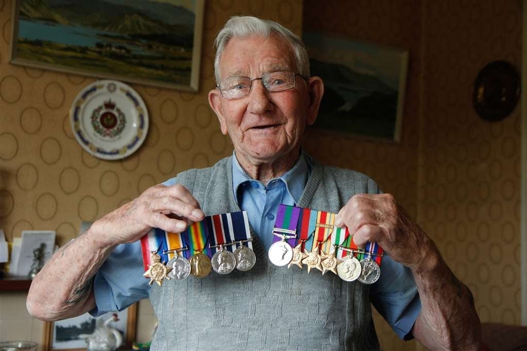 Thieves Raided 106-Year-Old War Veteran's Home And Stole His Second World War Medals - While He Was Watering His Plants