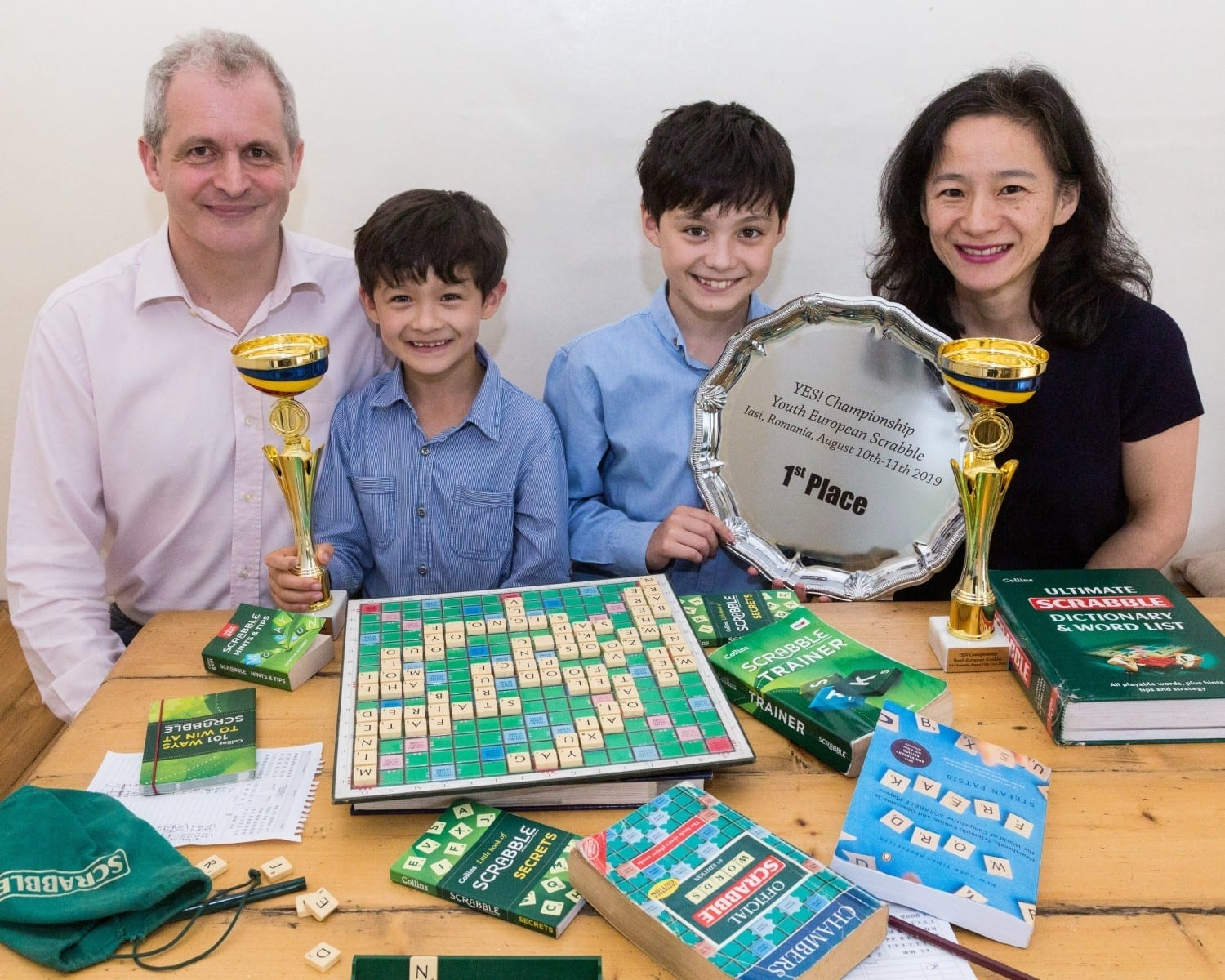 Pair Of Brainiac Brothers Aged Just Eight And 11 Left Their Parents Lost For Words When They Were Crowned World And European Champions - At SCRABBLE