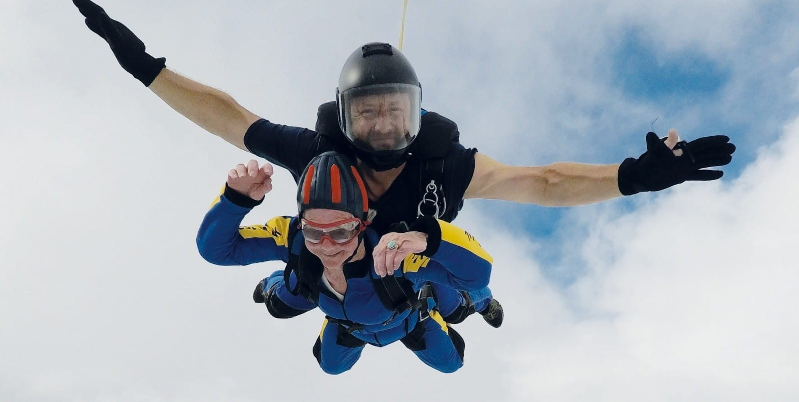 Fearless OAP Has Leapt Into The Record Books After Becoming Britain's Oldest Female Skydiver - At The Grand Age Of 94